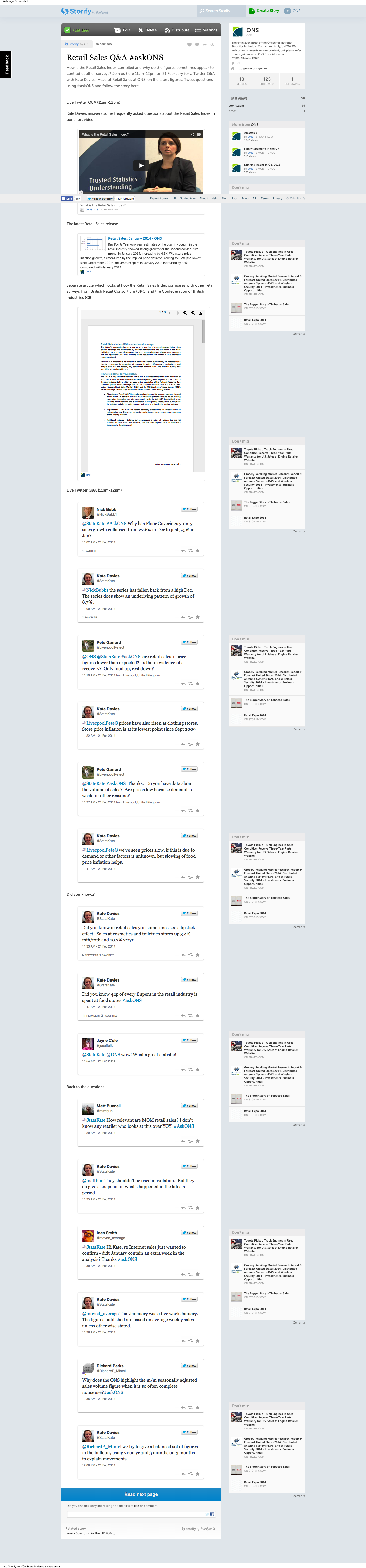 Retail Sales Q A #askONS  with tweets  · ONS · Storify (1)