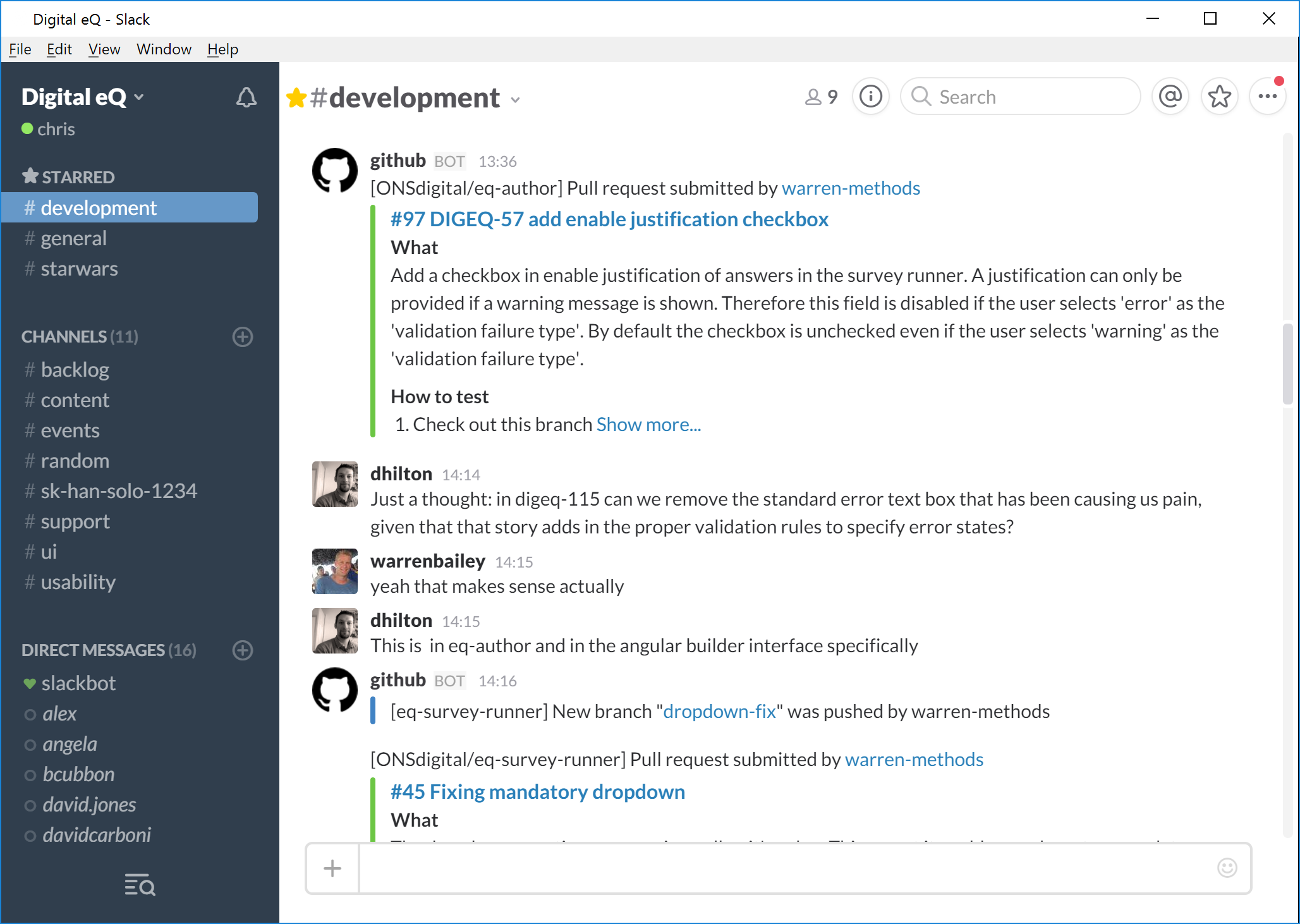 Eq Alpha Team Toolkit Ons Digital Browserdiagram 2 Slack Screenshot