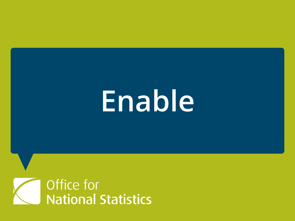 "Presentation slide with ONS logo and speech bubble with the word ""Enable"" inside."
