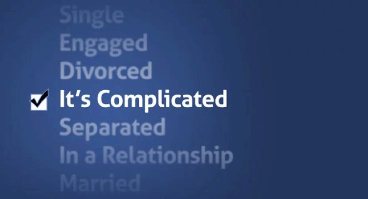 In a relationship – it'scomplicated